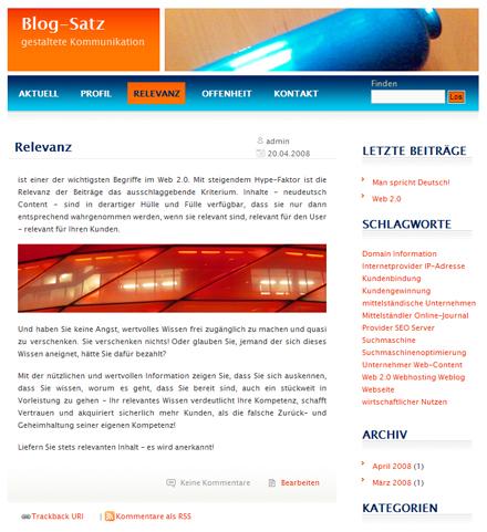 Blogsatz