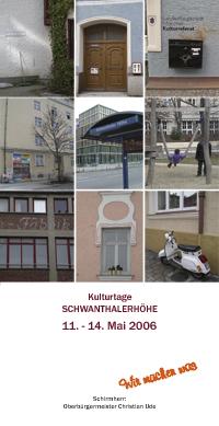 Kulturtage 2006 Schwanthaler Höhe - Programmheft