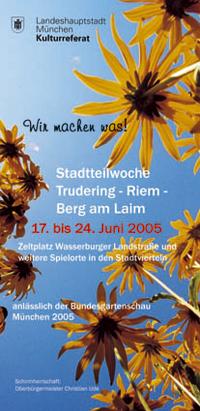 Stadtteilwochen 2005 Trudering, Riem, Berg am Laim - Programmheft