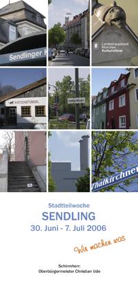 Stadtteilwochen 2006 Sendling - Programmheft