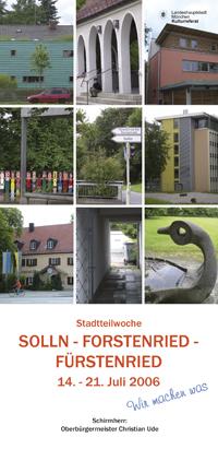 Stadtteilwochen 2006 Solln, Fürstenried, Forstenried - Programmheft